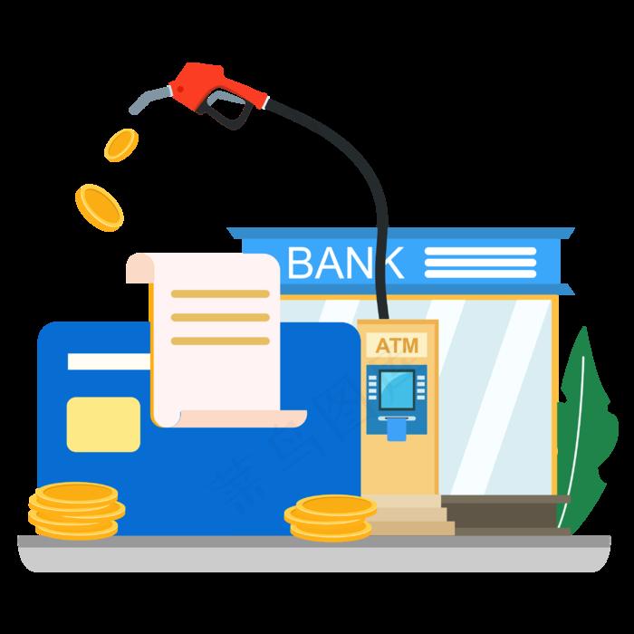银行卡金融加油站矢量图装饰元素(2000X3000(DPI:300))ai矢量模版下载