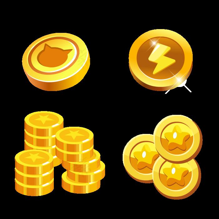 卡通星星游戏金币装饰元素(2000*2000px 300 dpi )ai矢量模版下载