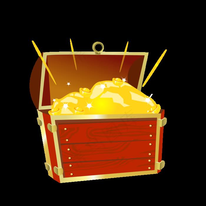 木箱宝藏元宝金币宝箱装饰元素(2000X2000(DPI:300))ai矢量模版下载