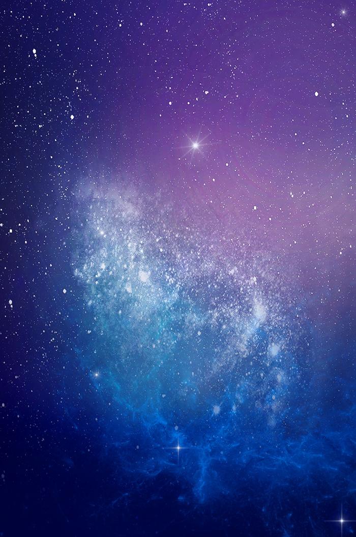 蓝色大气梦幻星空海报(3020*4549px       )psd模版下载