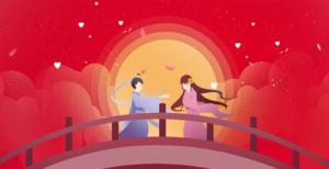 背景-七夕·中国红
