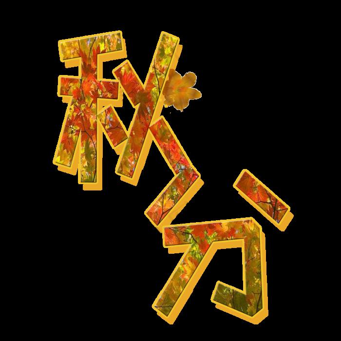 psd模版下载原创秋分艺术字字体元素(2000*2000px       )